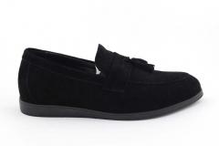 Rasht Loafers Black Suede RST7