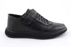 Rasht Sneaker Strap Black Leather RST4