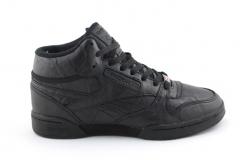 Reebok Classic Exertion Mid Black Leather (с мехом)
