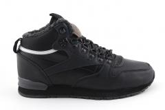 Reebok Classic Mid Black Leather (с мехом)