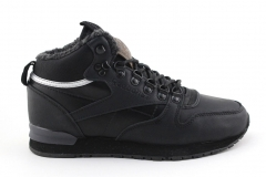 Reebok Classic Mid Black Leather (с мехом)