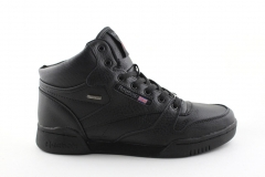 Reebok Classic Mid Keepwarm Black Leather (с мехом)