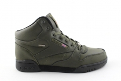 Reebok Classic Mid Keepwarm Olive Leather (с мехом)