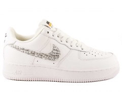 """Nike Air Force 1 Low """"Just Do It"""" White/Black"""