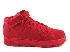 Nike Air Force 1 Mid Red Suede N19