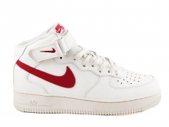 Nike Air Force 1 Mid White/Red N19