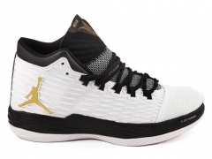 Air Jordan Melo M13 White/Black/Gold AJ19