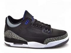 Air Jordan 3 Retro Black/Sport Blue-Wolf Grey AJ19