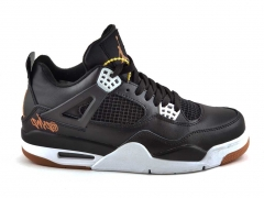 Air Jordan 4 Retro Black/White SE Leather