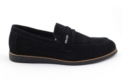 Prada Loafers Black Suede