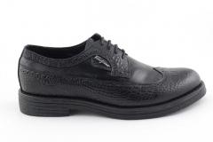 Framiko Baccio Derby Black Leather FB01