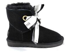 UGG Kallen Bow Slippers Black (натур. мех)
