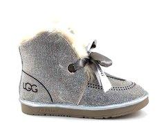 UGG Kallen Bow Boot Silver (натур. мех) UG19