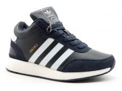 Adidas Iniki Runner Navy/White AD20 (с мехом)