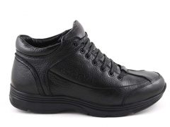 Ecco Black Leather E19 (натур. мех) ECBM4