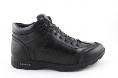 Ecco Black Leather E18 (натур. мех) ECBM5