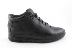 Ecco Mid Black Leather (с мехом)