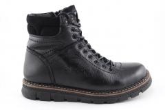 Ecco Boots Black Leather (с мехом)