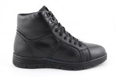 Зимние кожаные ботинки Billionaire Black A051
