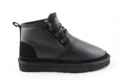 Ботинки UGG Neumel Black Leather (с мехом)