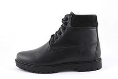 Timberland 6-inch Black Leather (натур. мех)