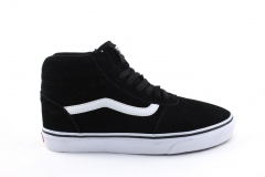 Vans Sk8-Hi MTE Black/White (с мехом)