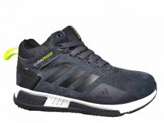 Adidas Climaproof Mid Suede Dark Grey (с мехом)