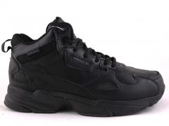 Adidas Falcon Mid Black Leather (с мехом)