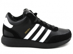Adidas Iniki Runner Black/White Leather (с мехом)