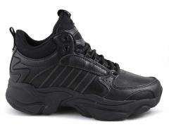 Adidas Naked Leather All Black (с мехом)