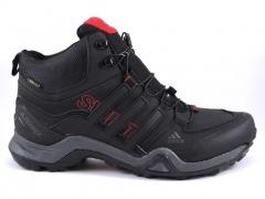 Adidas Terrex SwiftR Mid Black/Red (натур. мех)