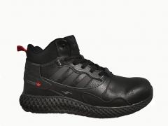 Adidas ZX 4000 All Black Lether (с мехом)