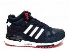 Adidas ZX 750 Mid Blue/Red (с мехом)