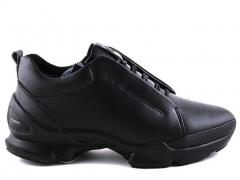 Ecco Biom С Black Leather E19 (натур.мех)