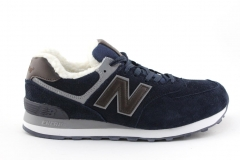 New Balance 574 Navy/Brown (с мехом)