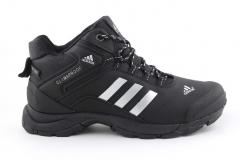 Adidas Climaproof Mid Black/White (с мехом)