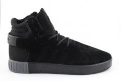 Adidas Tubular Invader Black (с мехом)