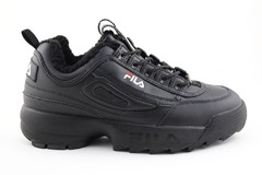 Fila Disruptor 2 Black (с мехом)