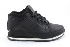 New Balance 754 Black Leather (с мехом)