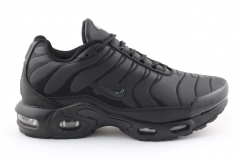 Nike Air Max Plus TN Black Leather (с мехом)