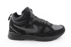 Nike Air Span II Black (с мехом)