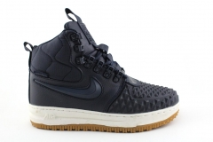 Nike Lunar Force 1 Duckboot '17 Navy/White (с мехом)