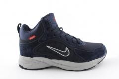 Nike Zoom Mid Navy (с мехом)