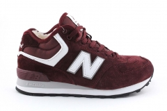 New Balance 574 Mid Burgundy (с мехом)