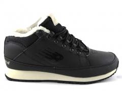 New Balance 754 N19 Leather Black/White (c мехом)