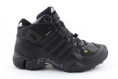 Adidas Terrex Fast R Mid All Black (с мехом)