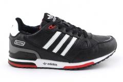 Adidas ZX 750 Black/White Leather (с мехом)