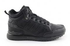 Adidas ZX 750 Mid Black Leather (с мехом)