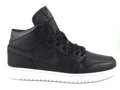 Nike Air Jordan 1 Retro Black/White (натур. мех)
