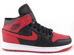 Nike Air Jordan 1 Retro Black/Red (натур. мех)